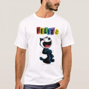 Laughing Felix the Cat T-Shirt by vavoom99